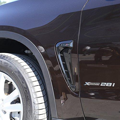 2/Set ABS KFZ Front Fender Seite Air Vent Cover Trim car-styling Shark Kiemen Side Vent Aufkleber
