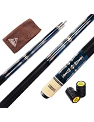 CUESOUL 57 Inch 21 Oz Pool Cue with 13mm Cue Tips with Cleaning Towel & Joint Protector (CSPC019)