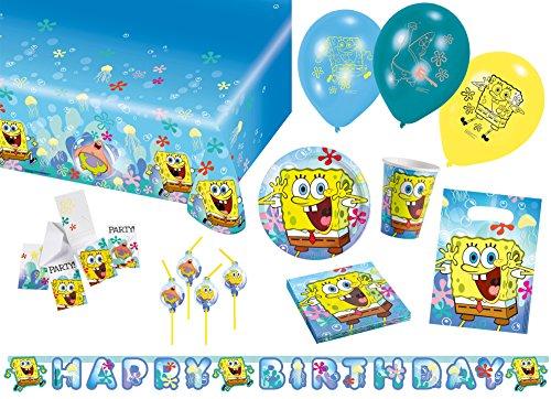 Amscan 9050 0258 Party Set Geschirr Sponge Bob