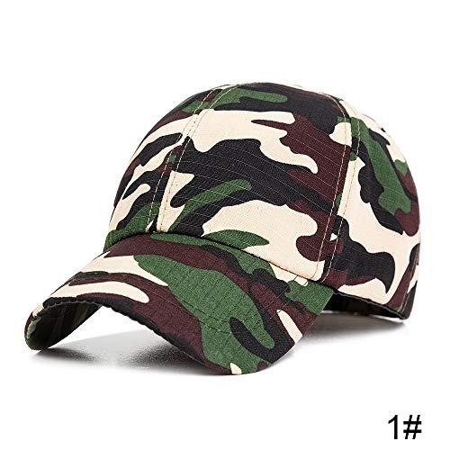 WDMZHS Neue Camo Caps Dünne Frühling Sommer Baseballmützen Einstellbare Größe Papa Hut Unisex Trucker Hüte Für Männer Knochen licht camo -