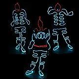 WSXX Mode Neon kaltes Licht, EL Seil, Standard leuchtende LED, für Weihnachten Party Pub Festival Dekoration Dance Party, leuchtende Kleidung Requisiten