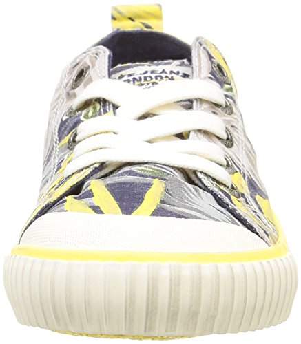 Pepe Jeans Damen Industry Low Vett Sneaker Blau - Bleu (580 Sailor)