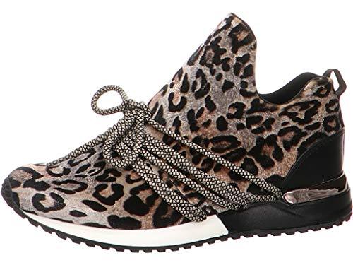 La Strada 1804189-4691 - Damen Schuhe Sneaker Freizeitschuhe - beige-Leopard, Größe:40 EU
