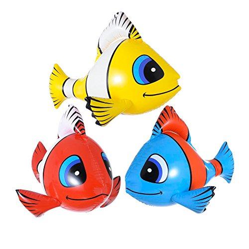PARTY DISCOUNT Neu Tropischer Fisch, aufblasbar, 60 cm, Sortiert