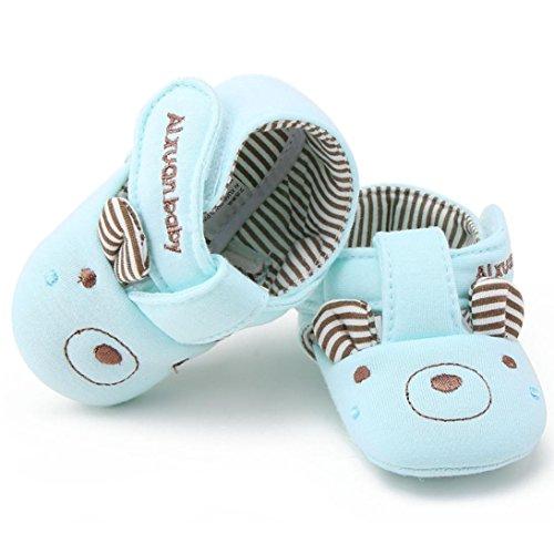 Clode® Baby Cartoon weichen Sohle Baumwolltuch Schuhe Infant Mädchen Lauflernschuhe Krippeschuhe Blau