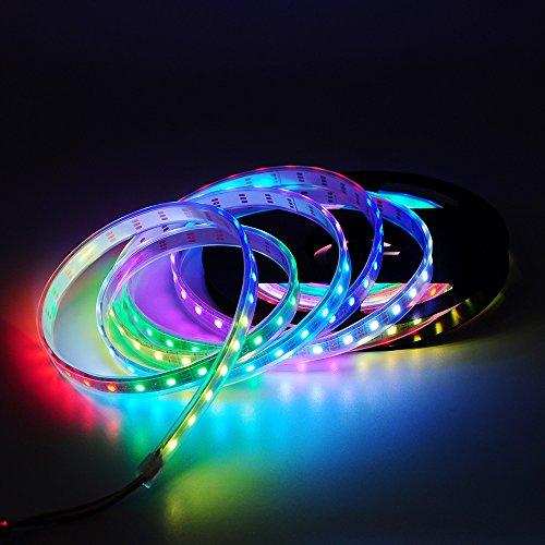 Preisvergleich Produktbild BTF-LIGHTING WS2812B 4M 60 LEDs / Pixels / m 240LEDs RGB adressierbare Streifen mit 5050 SMD LEDs Wasserdicht in Rohr IP67 …