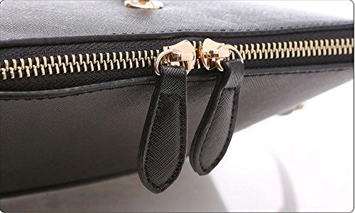 Pacchetto personalizzato di modo, zaino obliquo semplice della spalla selvaggia degli studenti coreani dell'alba di estate mini ( Colore : Grigio ) Nero