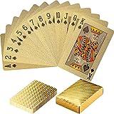 Maxstore Maxstore Design Pokerkarten aus Kunststoff, 100% WASSERDICHT, reißfest, Varianten: Pure Gold / Black Gold / Black Silver, Poker Deck Plastik Spielkarten