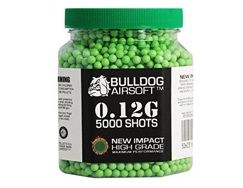 bulldog-012g-impact-grne-pellets-5000er-flasche-hochwertige-waffenkugeln-softair-munition
