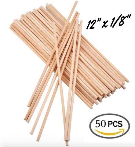 50 Pcs Wooden Dowel Rods 300mm X 2mm 12 X 18 Best Price