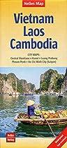 Vietnam/Laos/Cambodia nel. map Hanoi-Saigon-Phnom Penh