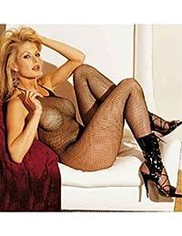 Shirley of Hollywood Nombre 90025Dos nu Cravate ouvert à l'avant érotique Combinaison résille