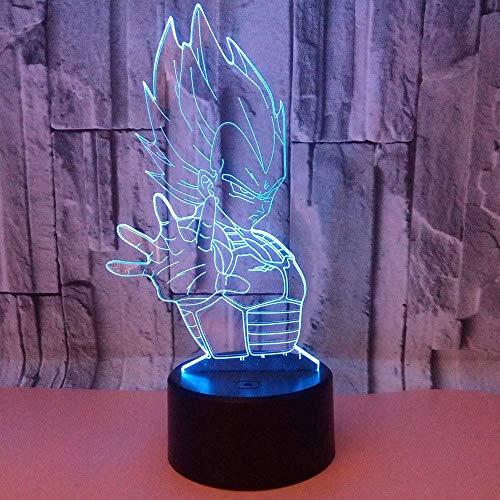 Leuchtmittel XIAOXINYUAN Kreative Elefant Gott 3D Bunte Farbverlauf USB Touch Control LED Nachttischlampe Schlaf Nachtlicht Wohnkultur