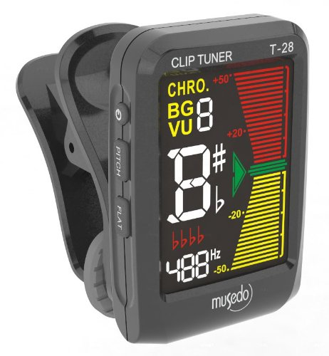 Musedo T-mus-t-28bk Wechselrahmen Chromatisches Stimmgerät - Musedo Clip