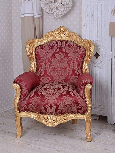 Königlicher Armsessel, Lehnsessel, Polstersessel, Sessel, Armlehnensessel -Marie Louise - mit...