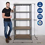 Shelving Unit - Garage Shed Storage 180x90x40 CM 5 Tier Racking Shelves Storage