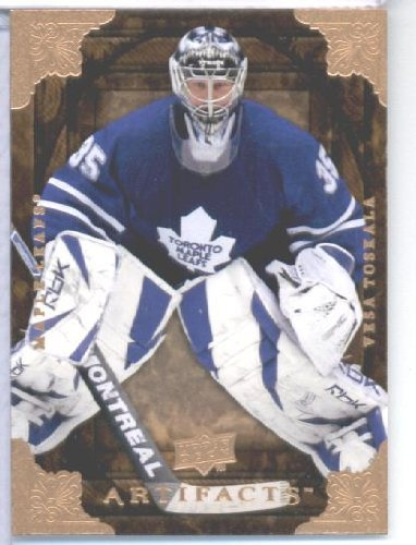 2008-09-upper-deck-artifacts-hockey-card-8-vesa-toskala-maple-leafs