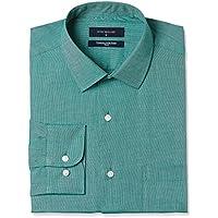 Peter England Men's Solid Regular Fit Formal Shirt (PSF104160149840_Mediumgreensolid)