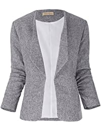 Kate Kasin Damen Jacke Blazer Slim Fit Anzug Trenchcoat Damenmantel KK000470