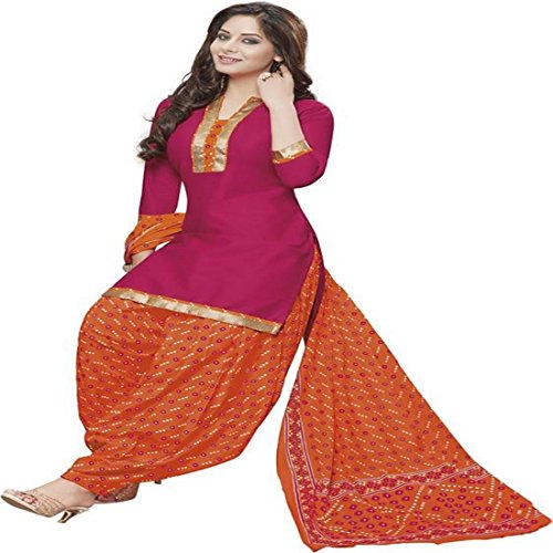 Reya Women's Crepe Printed Unstitched Regular Wear Salwar Suit Dress Material
