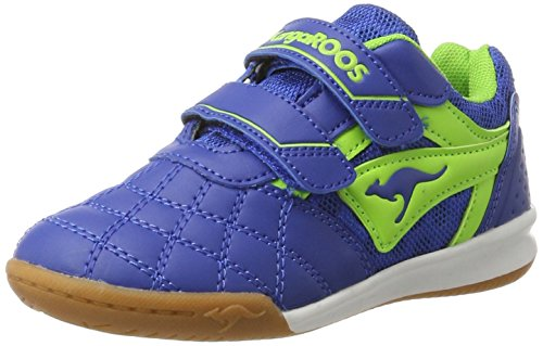 KangaROOS Unisex-Kinder Power Comb V Sneaker, Blau (Navy/Lime), 34 EU