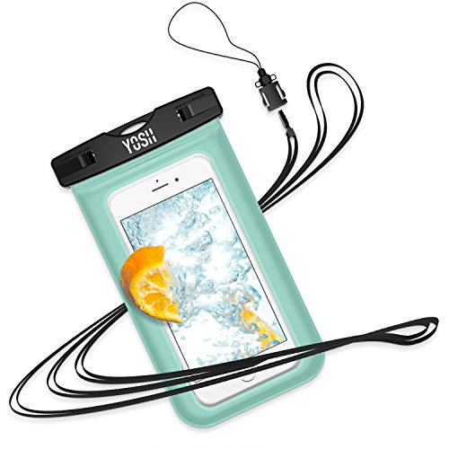 Wasserdichte Hülle Tasche Beutel Handyhülle [IPX8 Technische Zertifizierung] YOSH® für IPhone X 8 7 6 6s Plus Schnorcheln Tauchen Unterwasser Fotografieren Samsung S6 S7 S8 Note LUMIA 950 Huawei BQ Aquaris HTC, bis zu 6 Zoll✪LEBENSLANGE GARANTIE✪(grün)