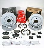 Autoparts-Online Set 60009756 Zimmermann Bremsscheiben Massiv Coat Z/Bremsen + Bremsbeläge + Handbremse Zubehör für Vorne + Hinten