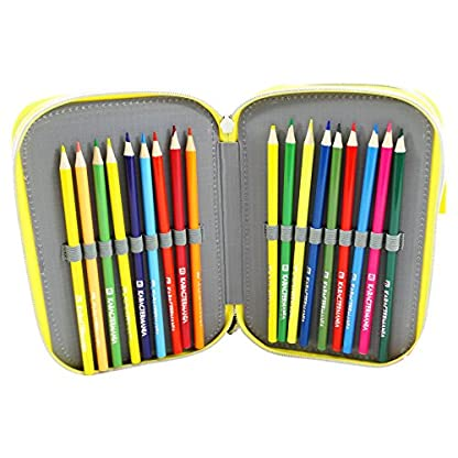 Minions Jail 3 Estuche Escolar Làpices de colores Plumier triple