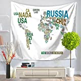 X&Y World Map Tapestry Wall Hanging Beach Towel Blanket , 150*200cm , d