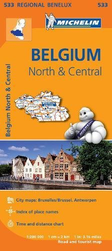 Mapa Regional Belgium North & Central (Carte regionali)