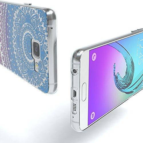 Samsung Galaxy A3 (2016) Hülle - EAZY CASE Handyhülle - Ultra Slim Glitzer Schutzhülle aus Silikon in Anthrazit Henna Blau / Pink