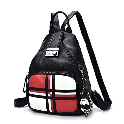 Meoaeo Mode Handtaschen Leder Pu Schultertasche gules