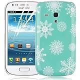 JAMMYLIZARD | Winter-Muster Back Cover Hülle für Samsung Galaxy S3 Mini, SCHNEEFLÖCKCHEN