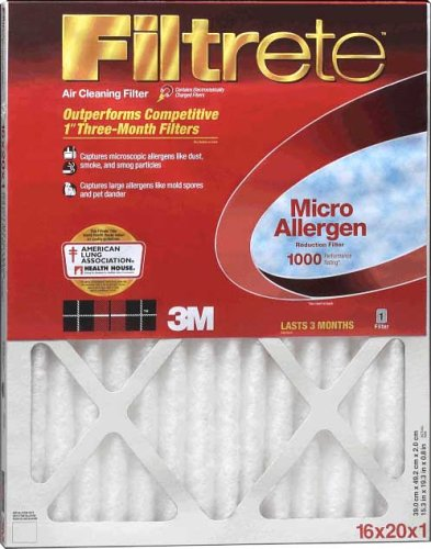 20x16x1 Ofen-filter (3 M Filtrete Allergen Defense Ofen Filter 16 x 20 x 1 1000 MPR)