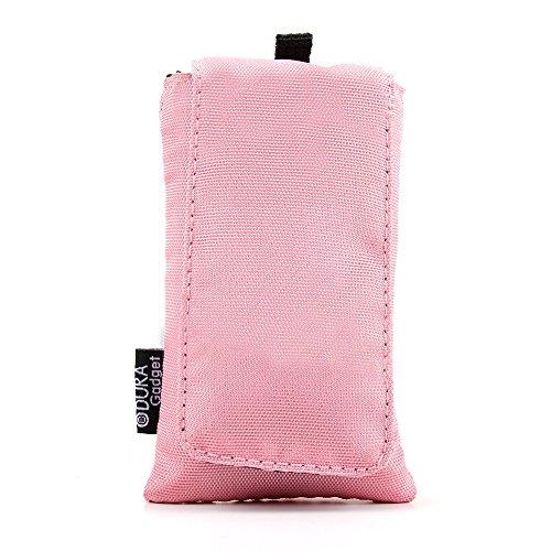 Robuste Design-Hülle Case Tasche mit Gürtelschlaufe (ROSA). Zum Schutze Ihres Emporia Comfort V66 | Euphoria V50 | Flip Basic F220 | Glam V34 | Select V99 & Doro PhoneEasy 609 L Senioren-Handys