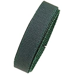 Minott Replacement Band Watch Band Textile Strap velcro green 16mm