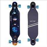 BAYTTER® 41 Zoll Cooles Skateboard Komplettboard Longboard Cruiser Board aus 9-lagigem Ahornholz 104 x 24 x 10.5cm für Kinder Jugendliche und Erwachsene mit ABEC-11 Kugellager und 7051 PU Rollen (Galaxie)