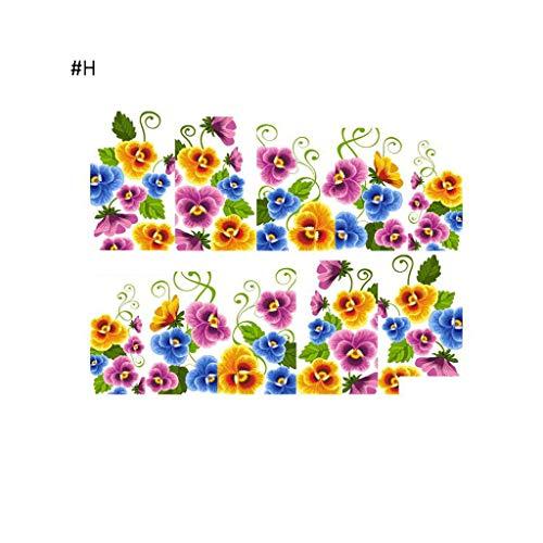Mitlfuny➤Black Friday & Cyber Monday -80%➤Nail Art Sticker DIY Tipps Dekoration Wasser Transfer Maniküre für Frauen