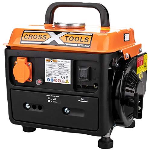 Cross Tools 68030 CPG 800 Benzin Stromerzeuger Stromaggregat Generator 1,5 kW - Mahagoni Brust