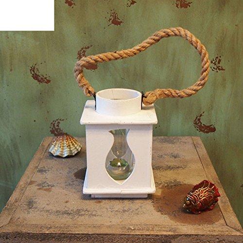 European-Style aus Holz Hurrikan-Lampe Kreative Laterne Romantisches Abendessen bei Kerzenlicht Kerze Ornamente-A (Hurrikan-lampen Für Kerzen)