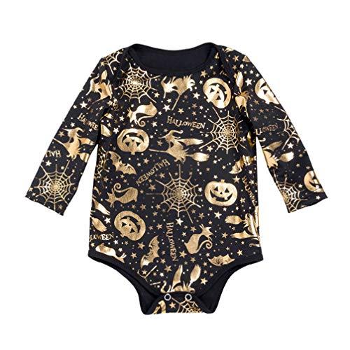 Fenical Overall Halloween Kürbis Onesies Kostüme Langarm Kürbis Strampler geeignet für 0-3 - Niedliche Kostüm Für Holloween