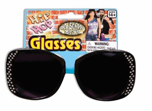 Hip Hop Black Costume Glasses (Herren Forum Jacke)