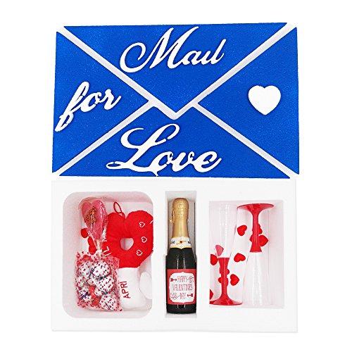 Box regalo brindisi di san valentino per lui con prosecco, calici, cioccolata e chiave peluche