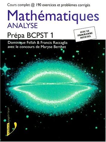 Mathématiques, Prépa BCPST 1 : Analyse