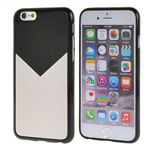 MOONCASE New Style Gel TPU Silicone Housse Coque Etui Case Cover pour Apple iPhone 6 Plus ( 5.5 inch ) Rose Blanc