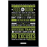 Motivation Poster und Kunststoff-Rahmen - Training, Motivationssprüche (91 x 61cm)