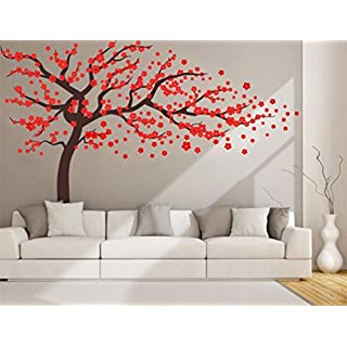 Blossom Tree Wall Sticker for Living Room Kids Baby Nursery Wall Decoration Decal Removable Vinyl Family Tree Wall Art Decal 102x67