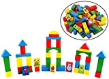 #4: CraftDev 120-Pieces Wooden Building & Construction Block Set for Kids Ages 3+ Years