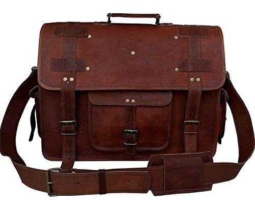 Vera pelle borsa messenger per uomini e donne, vintage cartella per laptop e libri ~ fatto a mano, robusto e anticata ~ genuine retro...
