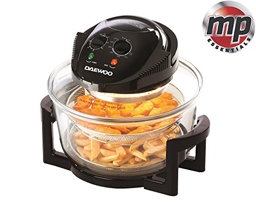 An image of the Daewoo 2 in 1 Deluxe Glass Air Fryer Deep Fat Free Frying Healthy No Oil Cooker